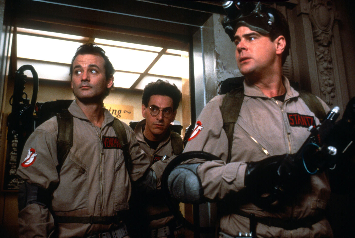 Ghost Busters (1984) Directed by Ivan Reitman Shown from left: Bill Murray (as Dr. Peter Venkman), Dan Aykroyd (as Dr. Raymond Stantz), Ernie Hudson (as Winston Zeddmore)