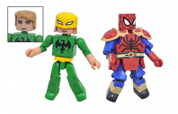 MiniMates Marvel Ultimate Spider-Man Web-Warriors K'un-Lun Armor Spider-Man and